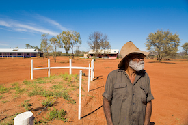 Aboriginal Elder Mt. Everard Central Australia